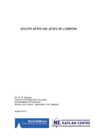 South African Jews in London