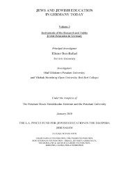 Jews and Jewish Education in Germany Today: Volume 3