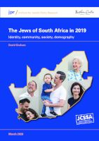 The Jews of South Africa in 2019: Identity, community, society, demography
