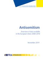 Antisemitism: Overview of data available in the European Union 2008-2018