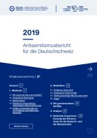 Antisemitismusbericht für die Deutschschweiz 2019 / Rapport sur l'antisémitisme en Suisse alémanique 2019