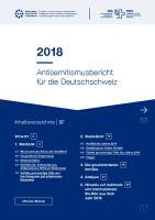 Antisemitismusbericht für die Deutschschweiz 2018 / Rapport sur l'antisémitisme en Suisse alémanique 2018
