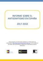 Informe sobre el Antisemitismo en España 2017-2018